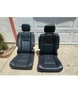 BUCKET SEATS  BLACK LEATHER  OEM TRUCKS VAN SPRINTER HOTROD - $444.51