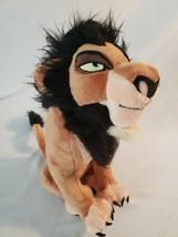 "The Disney Store The Lion King Scar Plush 14"" Stuffed Animal - $28.04"