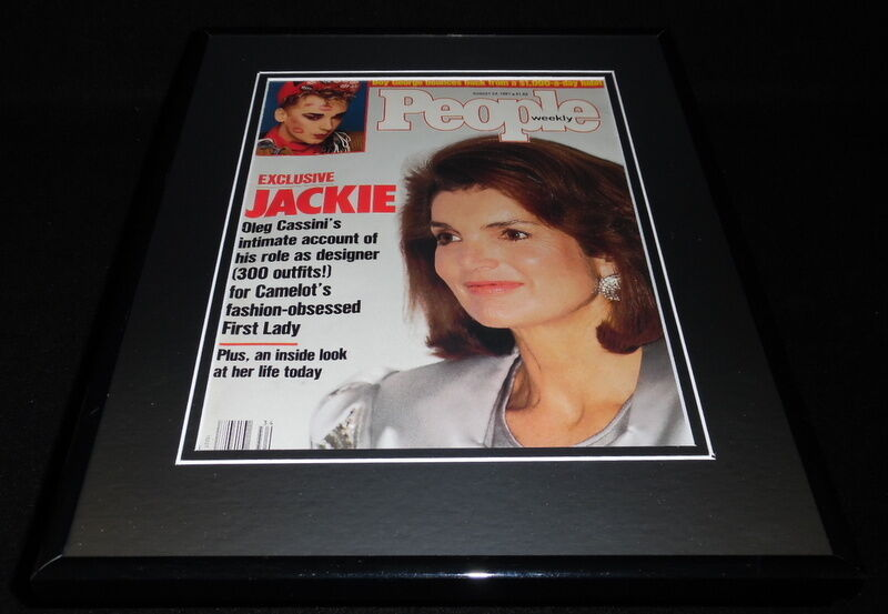 Primary image for Jackie Kennedy Onassis Framed 11x14 ORIGINAL 1987 People Magazine Cover JFK