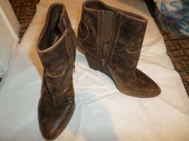 Carlos by Carlos Santana Distressed Leather Wedge Bootie 10M - $38.70