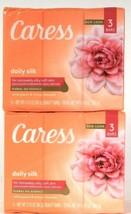 2 Packs Caress 9.45 Oz Daily Silk White Peach & Orange Blossom 3 Ct Beauty Bars - $20.99