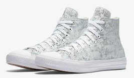 Converse Mens CTAS II Hi Reflective Wash High Top 154889C White/Silver S... - $64.99