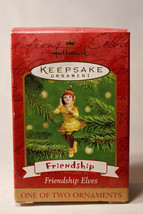 Hallmark: Friendship Elves - Gold - 1 of 2 Ornaments - 2001 Holiday Ornament - $8.54