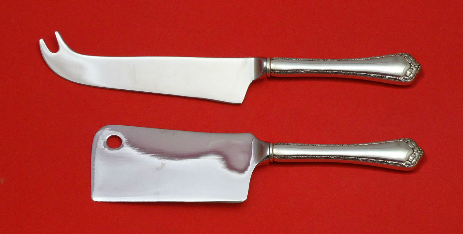 ROSEMARY BY EASTERLING STERLING SILVER CHEESE SERVER SERVING SET 2PC HHWS CUSTOM - $110.30