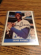 ERNIE BANKS AUTOGRAPHED 1992 FRONT ROW 5 CARD SET #1444/5000 w/COA Seale... - $19.97