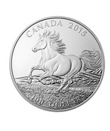 CANADA 2015 $100 PROOF SILVER IRON HORSE ** REDUCED TO FACE VALUE ** S11... - €116,62 EUR