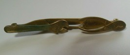 Vintage Anson Gold-tone Tool Tie Bar Clip- Wrench Pliers Pat. Pend - $23.50