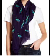 KATE SPADE Peacock Oblong Scarf in Deep Sea $78 New With Tag - $57.42