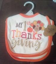 My 1st Thanksgiving Bibs set of 3 - $14.25