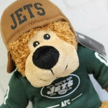 New York Jets Official NFL AFC Stuffed Animal Brown Bear Plush #00 Helme... - $16.99