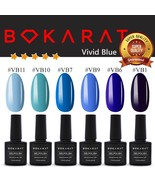 Vivid Blue Colors Bokarat Gel Nail Polish 7.3 ml Soak Off UV LED ~High Q... - $3.82+