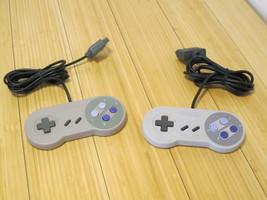 2 Super Nintendo SNES Controllers (One Original, One Generic) - $18.55