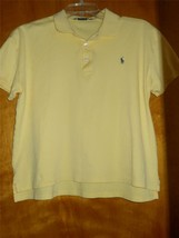 Ralph Lauren Sport Yellow 100% Cotton Short Sleeve Polo Shirt Sz M - EUC - $18.52