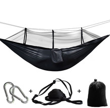 Camping Parachute Fabric Net Hammock Anti-Mosquito Hanging Hamak For Out... - $52.99