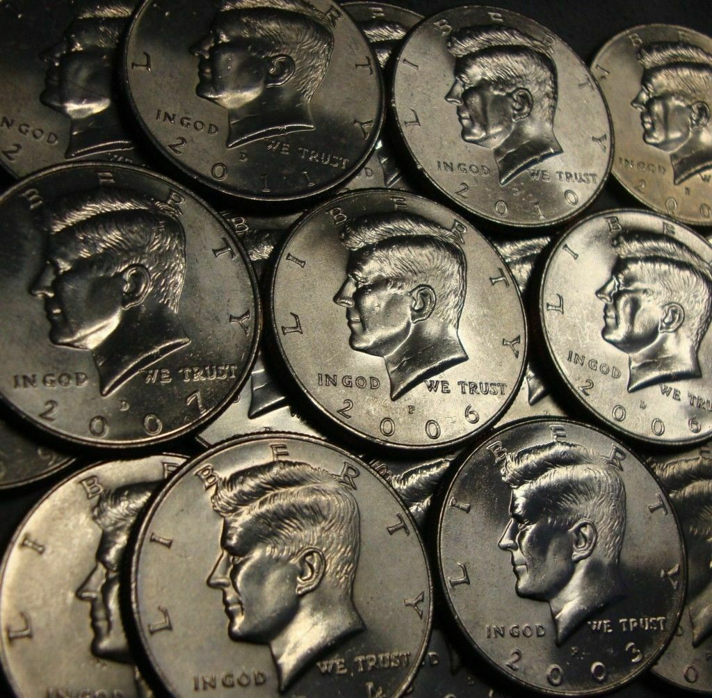 2007 - 2017 P & D Kennedy Half Dollars from US Mint Rolls 22 Coins Total CP3543