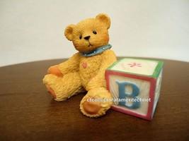 Cherished Teddies Bear With ABC B Alpha Letter Block 1995 UNB - $15.79