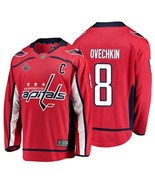 Men's Washington Capitals #8 Alex Ovechkin Red Stanley Cup Final 2018 Je... - $75.19