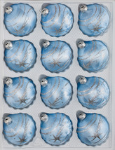 """12 pcs. Christmas Balls Set in """"Ice Blue Silver"""" Comet - $19.99"""