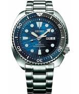 Seiko SRPD21 Prospex Save The Ocean White Shark Blue Automatic Diver Wat... - $292.05