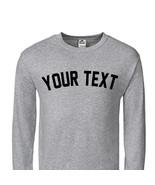 Custom New York Yankees Block Style Baseball Long Sleeve T-Shirt C01 - $17.15+