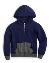 Punk Royal Full Zip Hooded Kids Unisex Jacket, Navy, Size S - $26.72
