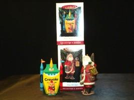 Hallmark Keepsake Ornaments Bright Shining Castle Crayola & Merry Olde Santa AA image 2