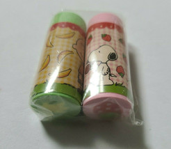 USJ JAPAN Limited PEANUTS SNOOPY Eraser  2 pieces Strawberry banana - $9.50