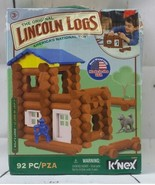 New Original Lincoln Logs Wolf's Lodge 92 Pieces K'Nex Free Shipping - $28.05