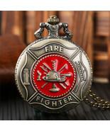 Pocket Watch Classic Chain Pendant Retro Gift Steampunk Quartz Necklace ... - $15.84