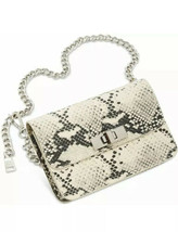 Steve Madden Bobby Snake Print Belt Bag Small Medium Animal Print Chain ... - $38.65