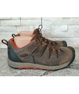 Keen Dry Waterproof Brown Leather Lace-Up Hiking Trail Shoes for Men, Si... - $63.58