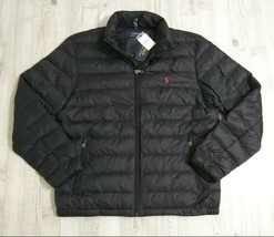 Polo Ralph Lauren Bleeker Lightweight Quilted Down Puffer Black Jacket Men Large - $139.99