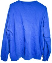 Nike Men's Blue Pullover Crew Neck Club Fleece Sweatshirt Embroidered Swoosh L image 2