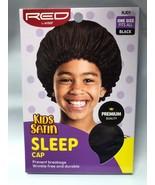 RED BY KISS KIDS SATIN SLEEP CAP HJ01 BLACK PREVENT HAIR BREAKAGE - $1.97