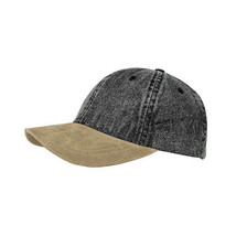 Blank MegaCap Washed Denim w/ Suede Bill Unstructured Baseball Dad Hat Cap New - - $10.00