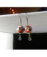 Handmade Multicolored Ceramic Dangle Ball Earrings - New - $8.99