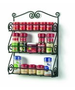 Spice Rack Shelf Wall Mount Display Black Metal Finish Cosmetic Essentia... - £17.36 GBP