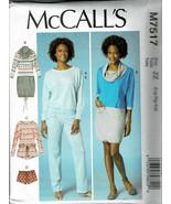 McCalls Pattern M7517 Misses/Plus Top Dress Pants Romper Shorts Szs 16-2... - $6.93