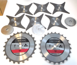 """Craftsman 37666 8"""" Stacked Dado Saw Set 24 Tooth 6 Chippers & Shims - $74.25"""