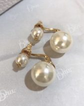Authentic Christian Dior 2019 Danseuse Etoile Mise En Dior TRIBAL Pearl Earrings image 5