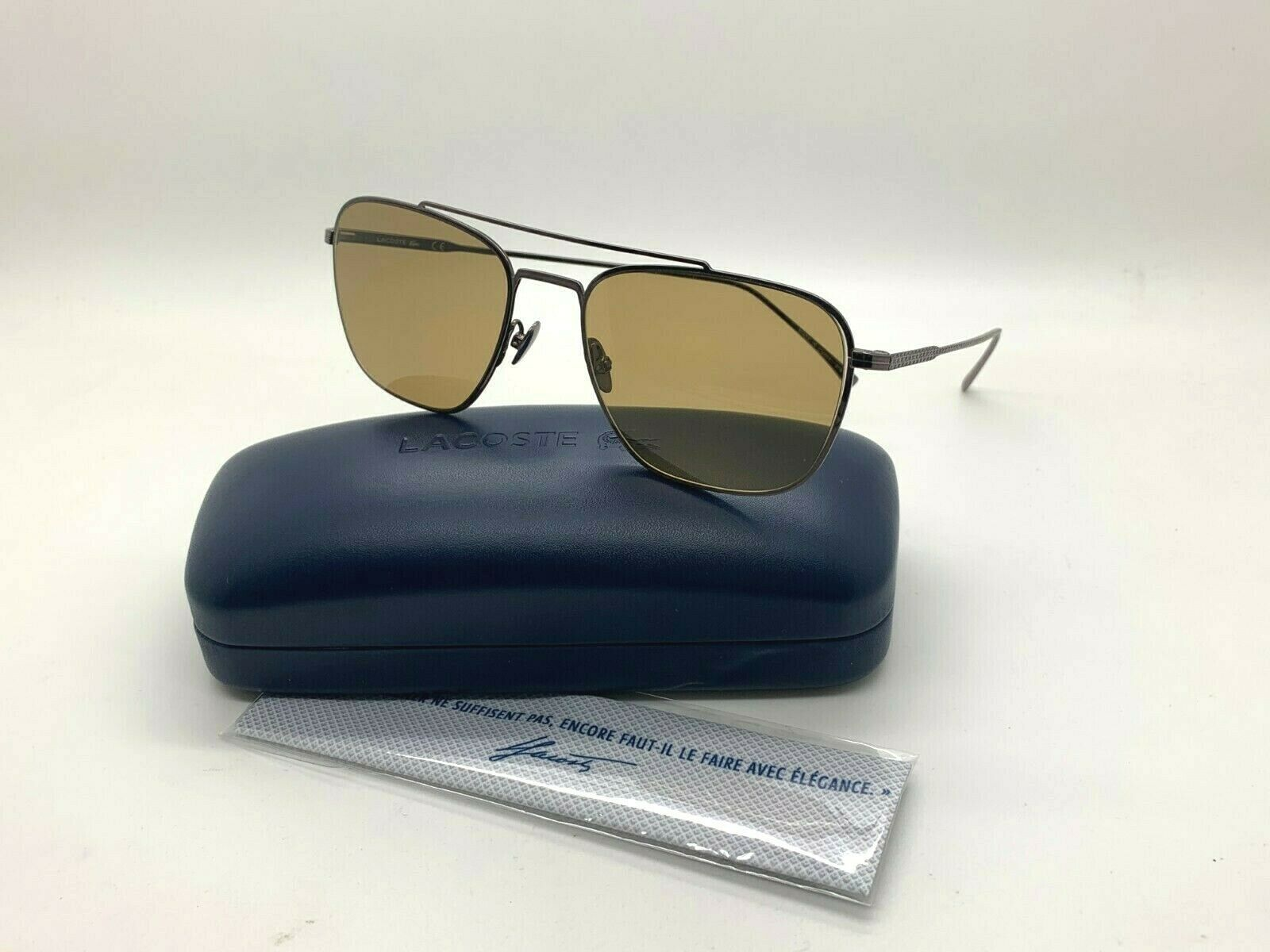 Primary image for NEW Lacoste Sunglasses L201SPC 033 GUNMETAL  54-18-145 CASE&CLOTH