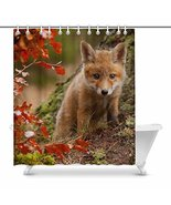 InterestPrint Baby Red Fox with Maple Tree Little Animal Waterproof Show... - $37.61