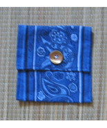 Violin/Viola Rosin Pouch/Flannel/FiddleBelle Brand/Blue Bandana/Upcycled  - $4.95