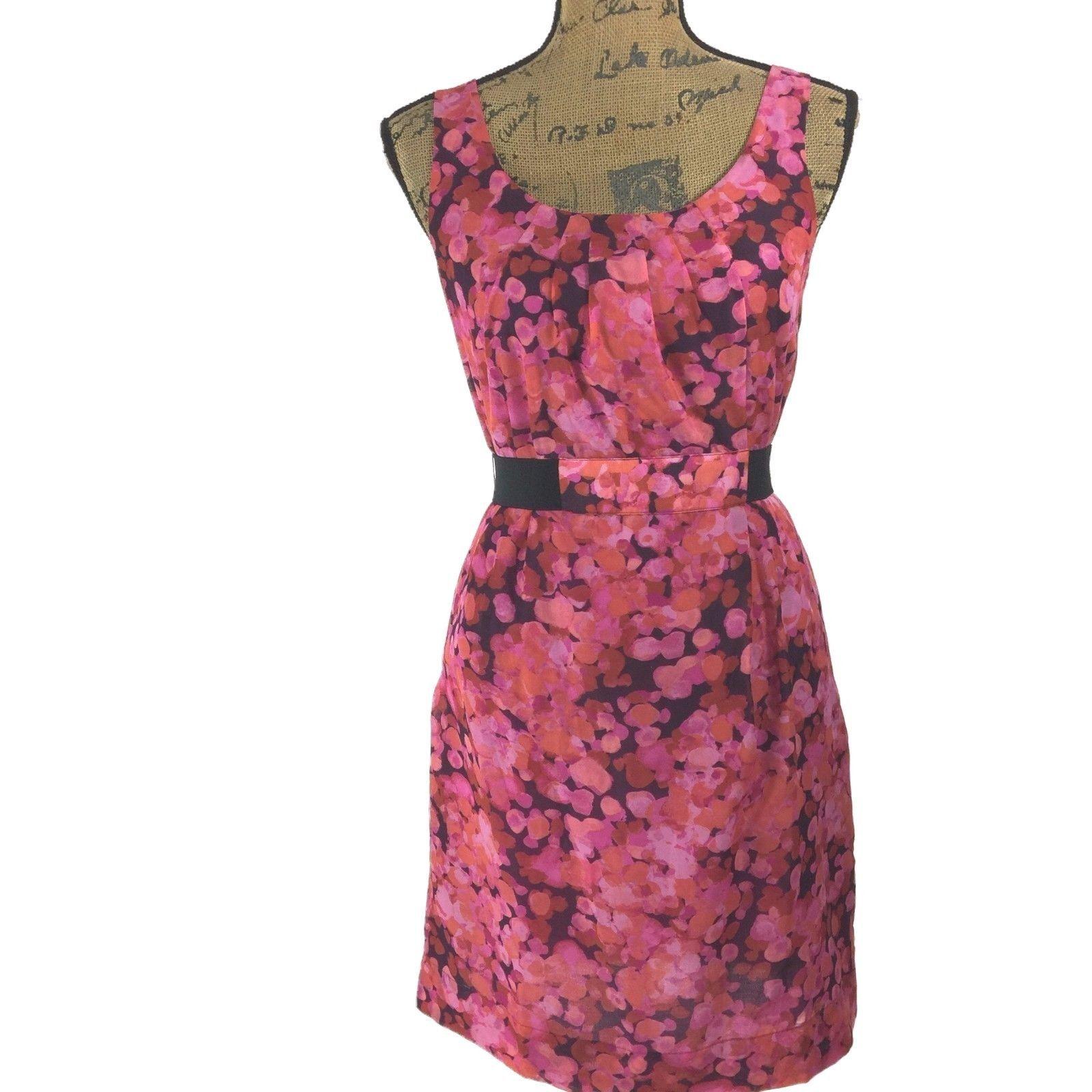 SET Ann Taylor LOFT Dress J.Crew Clare Cardigan Sweater Pink Purple Black 2 S LN image 2