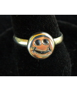 Smiley Face Sterling Silver Ring SZ 4.75 - $10.00