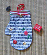Christmas Fiddle/Violin Gift Mitten/Doubles As An Ornament/Small Stocking - $13.95