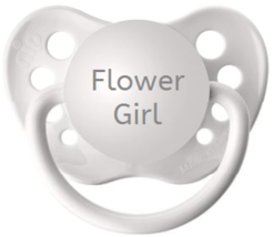 Flower Girl Pacifier - Flower Girl Proposal - White - 0-18 months - Baby... - $9.99