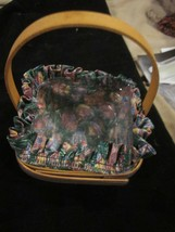 Longaberger Basket 1998 Editon Small Easter Basket, Easter Egg Liner Protective - $39.99