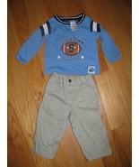 "CHILDS CARPENTER PANT18 MOS-CRADLE TOG SHIRT18 MOS-WAIST 10""--SIDE 17"" LONG - $7.50"