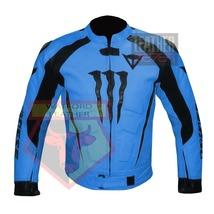 DAINESE 1010 SKY BLUE WATERPROOF COWHIDE LEATHER MOTORCYCLE BIKERS ARMOR... - $289.99